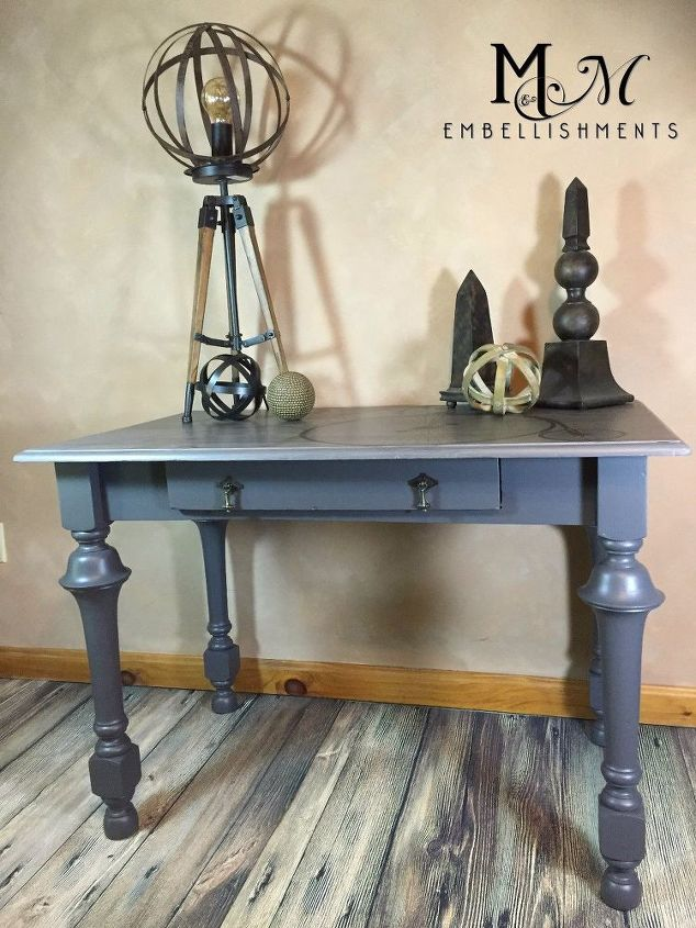 Restoration Hardware Inspired Writing Desk Painted Furniture