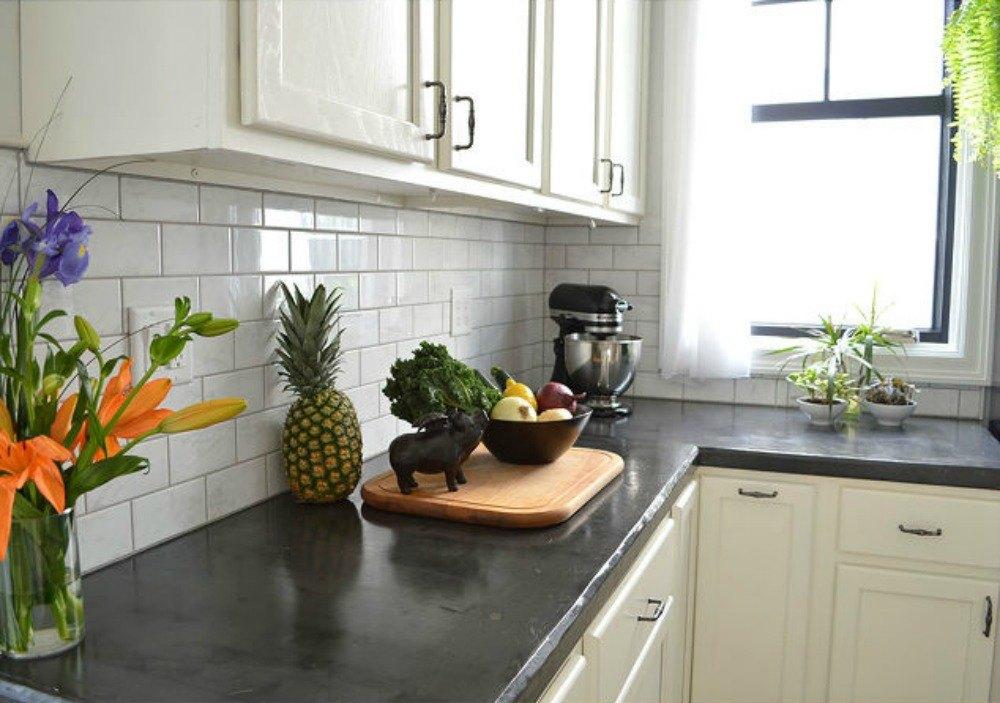 13 different ways to make your own concrete kitchen - Kitchen countertop designs photos ...