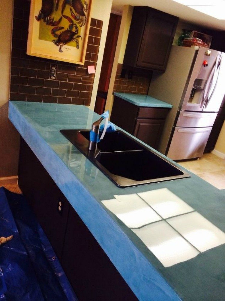 13 Different Ways To Make Your Own Concrete Kitchen