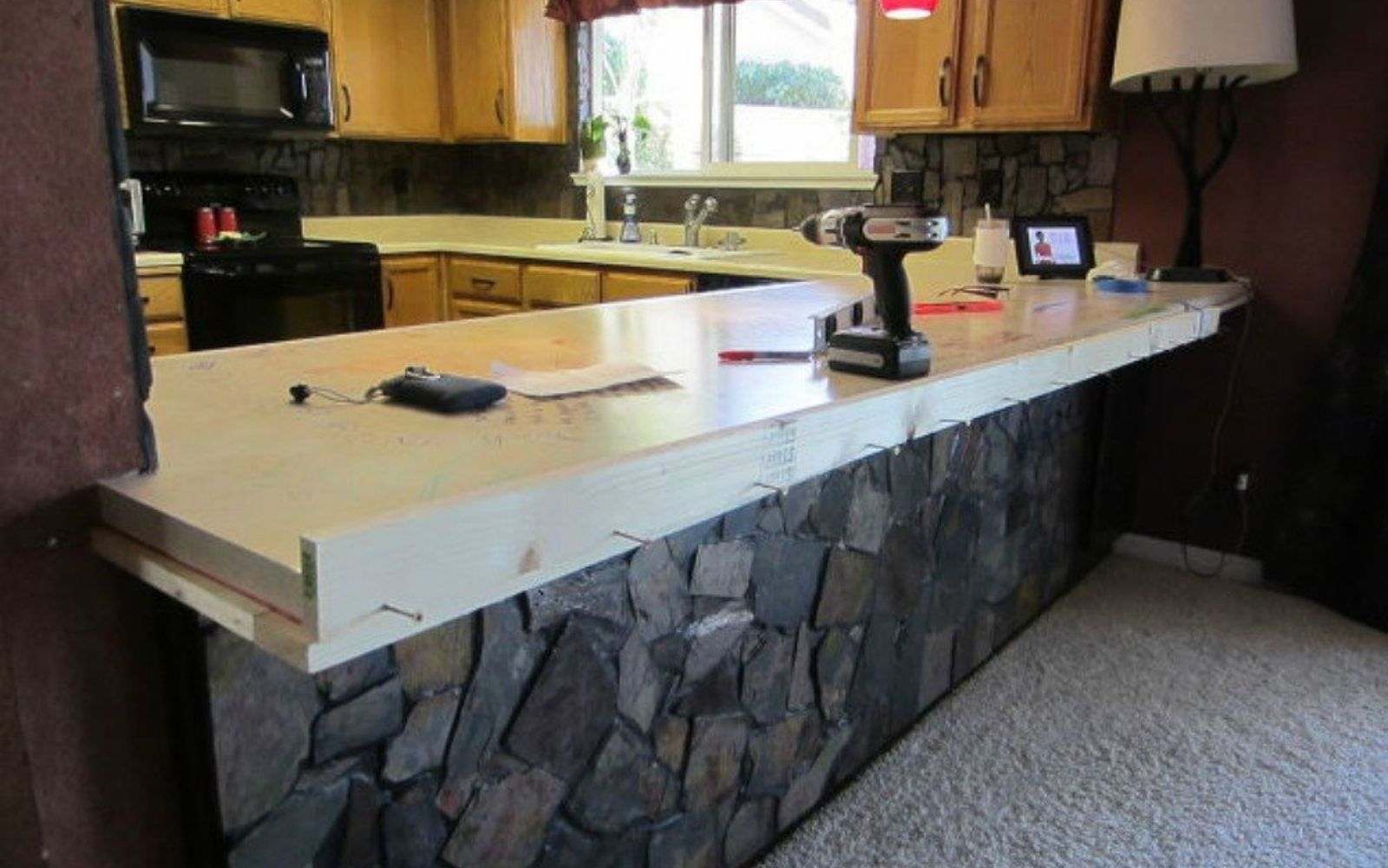 13 different ways to make your own concrete kitchen countertops hometalk