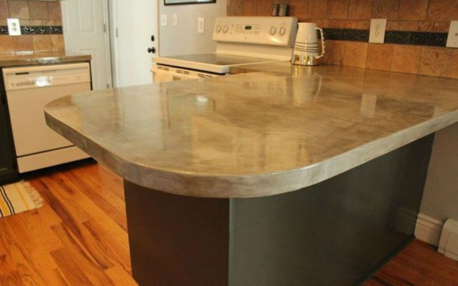 build kitchen countertop 13 different ways to make your own concrete kitchen 228