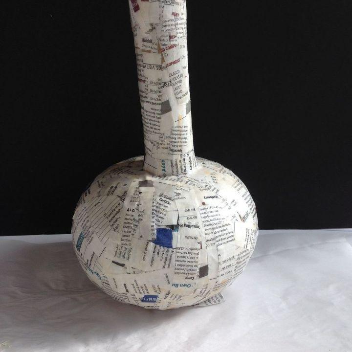 Decoupage Napkins On Paper Mache Vases Hometalk