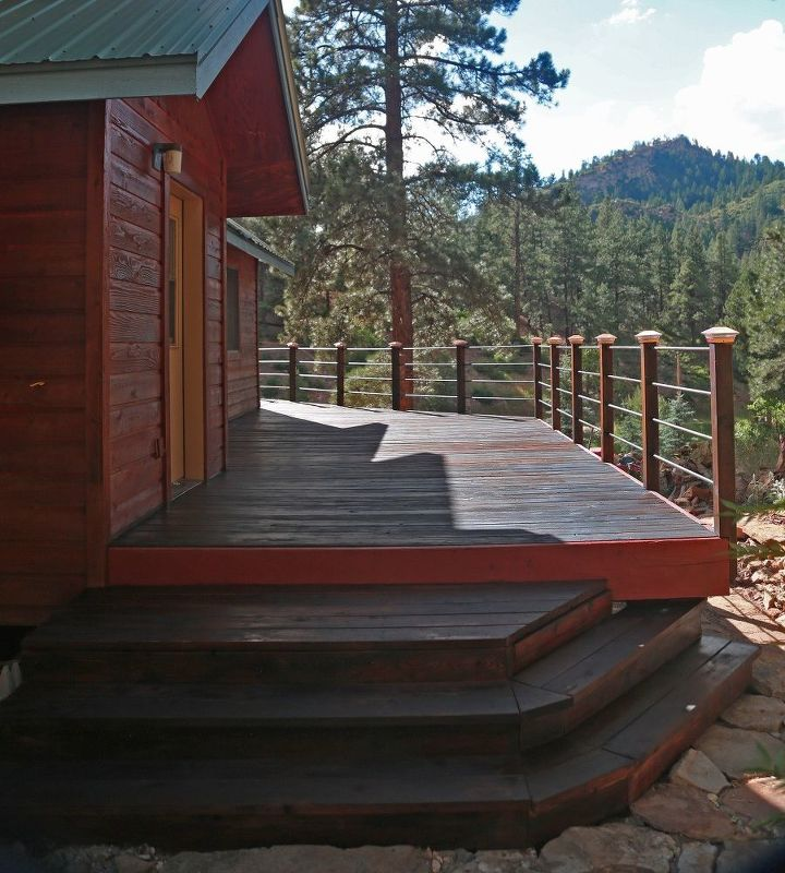 Blending Old Into New Wood Deck Stairs Decks How To Painting