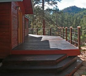 Blending Old Into New Wood Deck Stairs, Decks, How To, Painting, Stairs