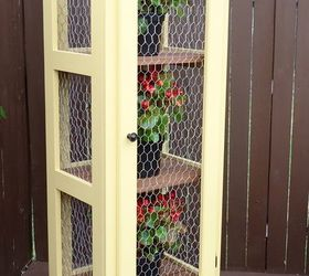 Diy Patio Garden Cabinet To Display And Protect Plants, Container  Gardening, How To,