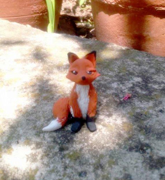 miniature fox for fairy garden , crafts