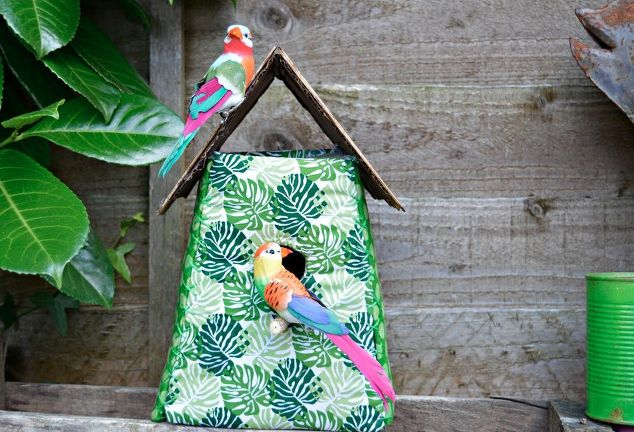 Tropical Fabric Birdhouse Decoration | Hometalk