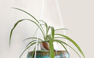 turn an old wood bowl into a hanging plant shelf, container gardening, gardening, painting
