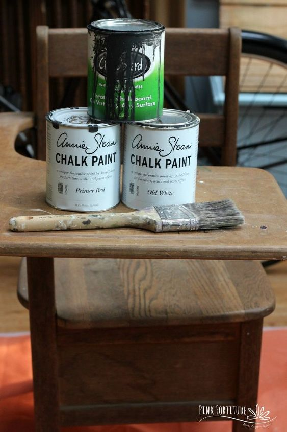 vintage school desk diy is a head of the class, chalk paint, painted furniture
