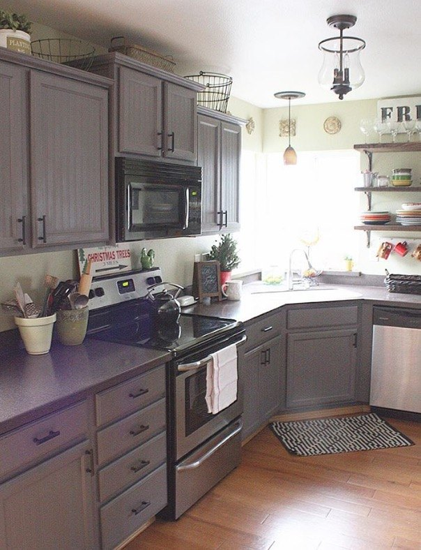 farmhouse kitchen makeover, kitchen cabinets, kitchen design, painting cabinets, Before
