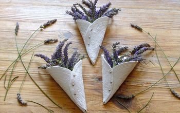 Lavender Display Idea - DIY Air Drying Clay Cones
