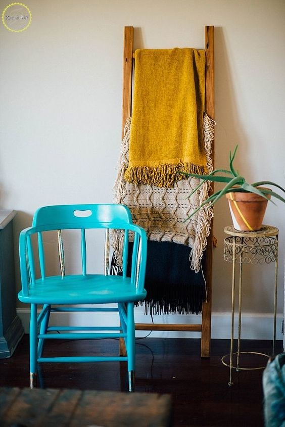 painted modern chair with gold foil, how to, painted furniture, painting