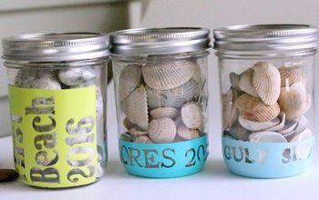 vacation keepsake mason jars, crafts, how to, mason jars, organizing, storage ideas