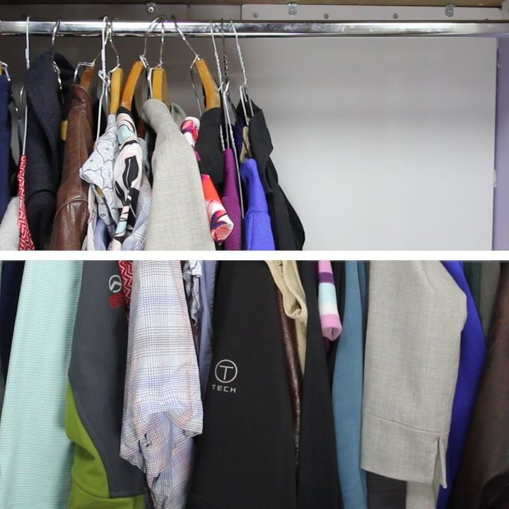 the cheapest closet space saver ever , bedroom ideas, organizing, repurposing upcycling, storage ideas