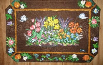 Re-purposed Dollar Tree Placemat-to Hanging Wall Art