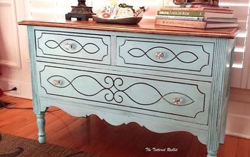 rustic farmhouse dresser, how to, painted furniture