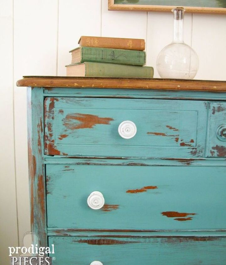 how to distress the easy way, how to, painted furniture