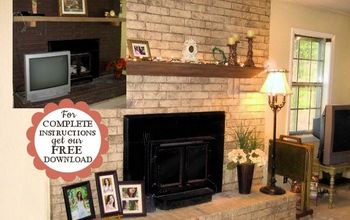 Inexpensive & Dramatic Fireplace Makeover With Paint!
