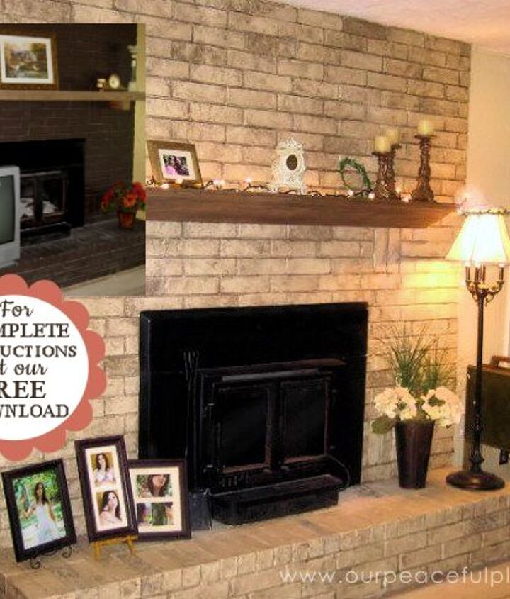 inexpensive dramatic fireplace makeover with paint , concrete masonry, fireplaces mantels, how to, painting