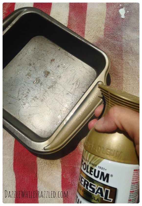 from baking pan to wall frame, crafts, how to, repurpose household items