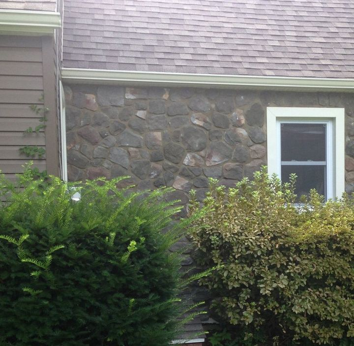 painting and staining a fauxe stone wall, concrete masonry, curb appeal, how to, painting