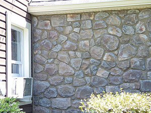 Painting And Staining A Fauxe Stone Wall Concrete Masonry Curb Eal How To