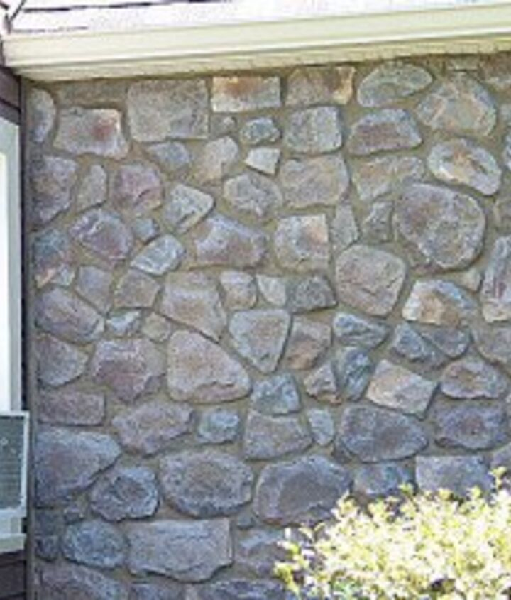 Painting And Staining A Fauxe Stone Wall Hometalk