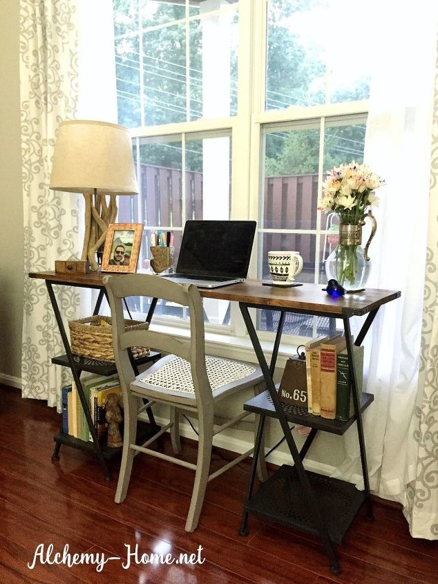 Diy Desk Power Tools Not Required Home Office How To Repurposing Upcycling