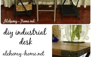 DIY Industrial Desk: No Power Tools Needed!