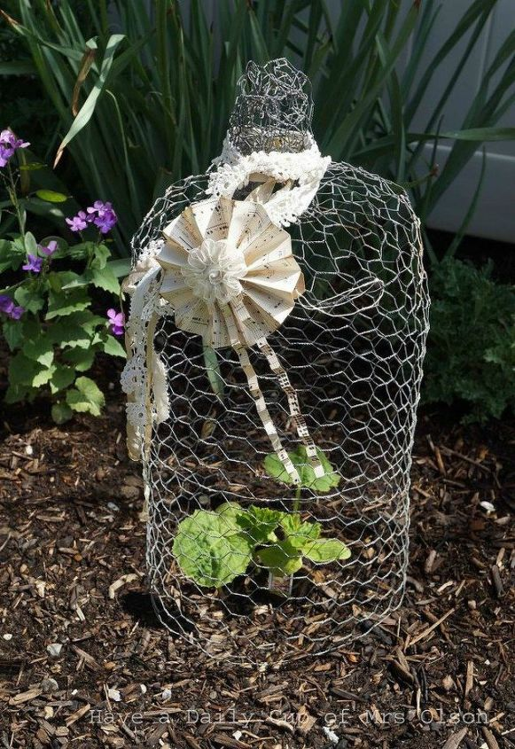 s 16 things you didn t know you could do with chickenwire, Create an adorable cloche for your garden