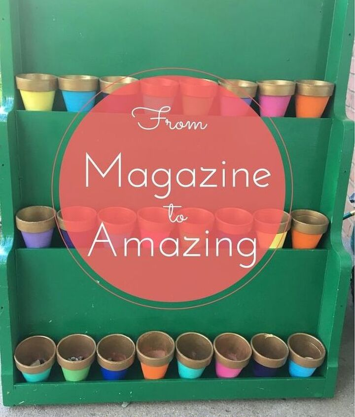 from magazine to amazing, container gardening, how to, repurpose household items