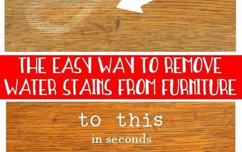How to Remove a Water Stain From Wood