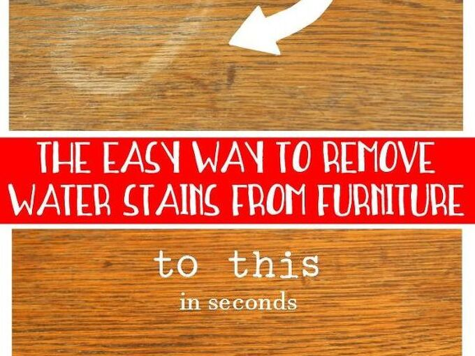 how to remove a water stain from wood, cleaning tips, how to
