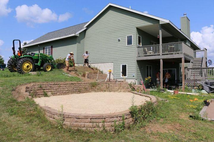 landscape project make over, concrete masonry, landscape, outdoor living, patio