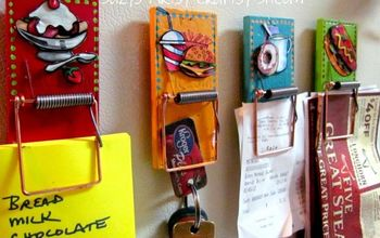 fun to make mouse trap clips , crafts, how to, organizing, repurposing upcycling, wall decor
