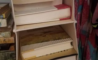 a novel idea unconvential book storage, closet, organizing, repurposing upcycling, storage ideas