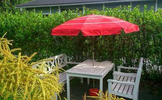 spray painted parasol, how to, painting, painting upholstered furniture