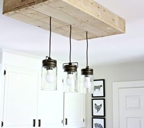 Elegant Farmhouse Pallet Kitchen Light Box, How To, Lighting, Pallet, Repurposing  Upcycling