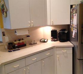 Updating white laminate kitchen cabinets