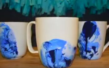 diy marble mug, crafts, painting