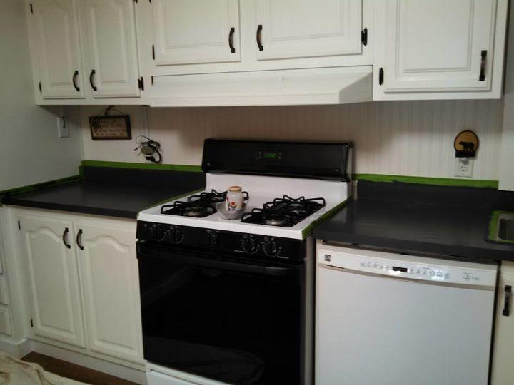 How To Fake Granite Kitchen Countertops Hometalk Best Granite Kitchen Design Painting