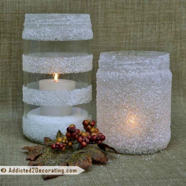 s why everyone is saving their empty food containers, repurposing upcycling, They make stunning candle holders