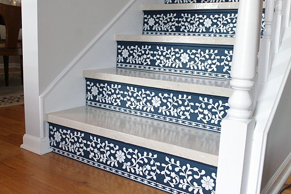 stenciled stairs worth staring at , how to, painting, stairs