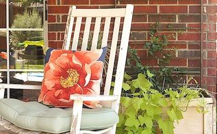 budget friendly patio makeover with a new vintage mix, outdoor furniture, painted furniture, patio