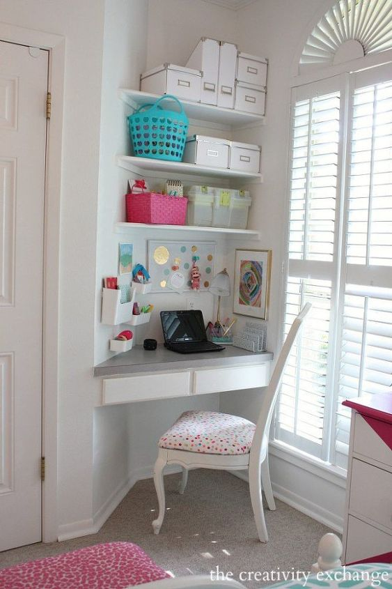 q where can i buy or how can i create a corner desk like this, home decor, home decor dilemma