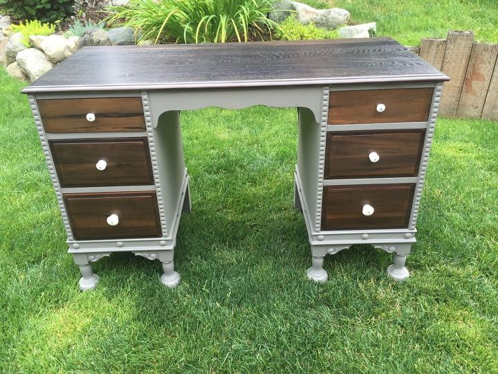 craigslist free desk, how to, painted furniture