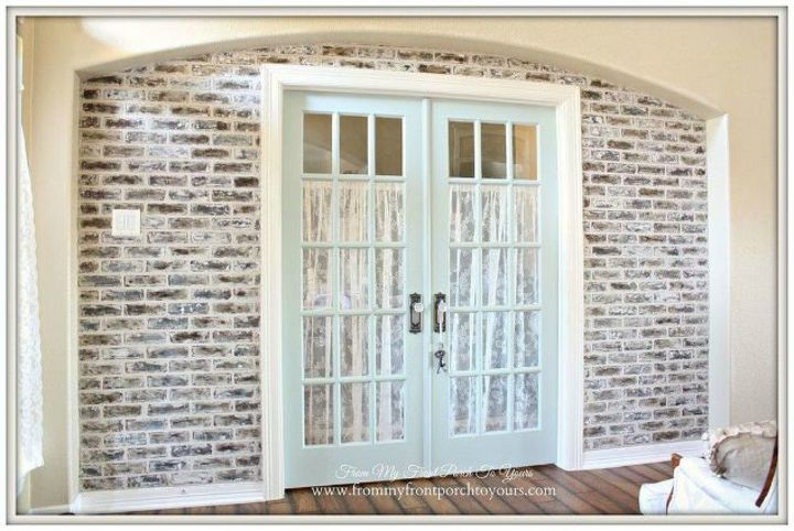 s why everyone is copying these amazing brick paneling ideas, They create a perfect archway for your foyer