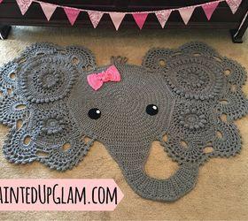 Attractive Popular Elephant Rug Crochet Diy, Crafts, Reupholster