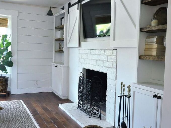 how i made a beautiful mantel using an antique wood remnant, fireplaces mantels, home improvement, how to, woodworking projects