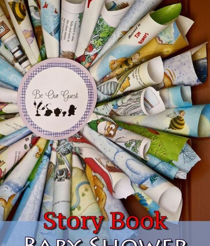 story book baby shower wreath, crafts, how to, wall decor, wreaths